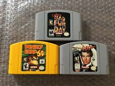 Conker's Bad Fur Day + GoldenEye 007 + Donkey Kong (Nintendo 64, N64) Carts Only