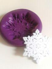 Stampo in silicone fiocco di neve 34 mm DI NATALE PASTA DI ZUCCHERO TORTA DECORARE FIMO Frozen