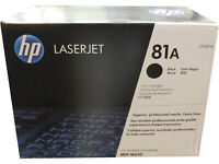 HP CF281A 81A Black Toner Cartridge Genuine OEM Retail Box Quick Ship NIB New