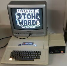 Vintage working Apple II+ Plus 48K Computer with Disk Drive & Color Monitor