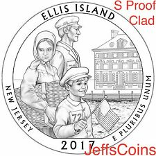 2017 S Ellis Island Park Quarter CLAD Proof ATB via U.S.Mint Set Low Price NJ