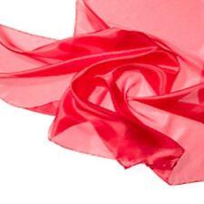 Großer Seidenschal 100/% Seide rot Seidentuch 195 x 105 cm Pongé 05 Seidentücher