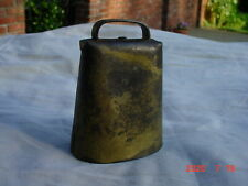 Nice Antique Forged Metal Cow Bell Has Iron Ball Ringer Nice Condition & Patina