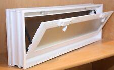 22x8x3 Vinyl, Thermal Pane, Hopper Vent for Glass Block