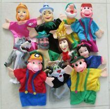 Lot de 11 marionnettes à main Trois petits cochons, loup, Blanche-Neige, etc