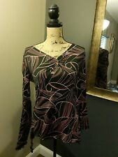Black And Pink Retro Fashion Bug Women's Shirt Size Small