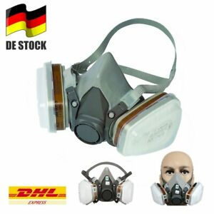 Für Atemschutz Gasmaske Halbmaske 6200 Staubmaske Lackiermaske Wechselfiltern