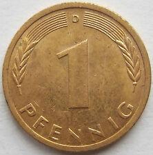 TOP! 1 Pf 1972 D in VORZÜGLICH VERGOLDET !!!