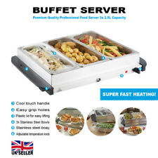 3 X 2.5L ELECTRIC BUFFET SERVER ADJUSTABLE TEMPERATURE FOOD WARMER HOTPLATE TRAY
