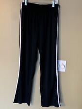 Champion Womans Black With White Stripes, Thin Sports Pants Size Medium