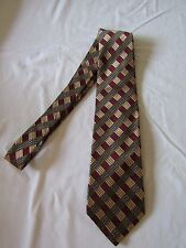 Vintage LANDS END Handsewn 100% Silk Geometric Neck Tie