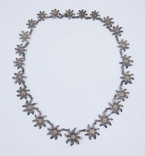 Pretty Antique C1920s Silver Daisy Collar Necklace