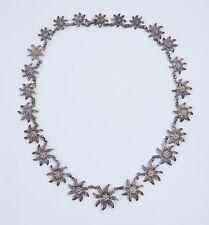 Pretty Antique C1920s Silver Daisy Collar Necklace