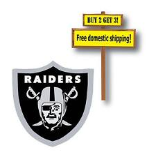 Oakland Raiders Black and Silver Decal/Sticker NFL O4