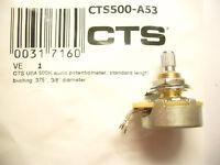 CTS-Poti 10mm Potentiometer 500 kOhm, A log.