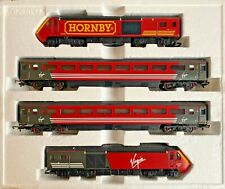 HORNBY 00 GAUGE - 'HORNBY' BRANDED VIRGIN TRAINS 125 HST 4 CAR PACK - PART BOXED
