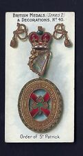 TADDY - BRITISH MEDALS & DECORATIONS (BLUE) - #40 ORDER OF ST PATRICK