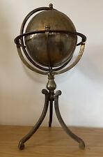 Wonderful Antique Vintage Metal Globe - Desk Prop - Fabulous Patina