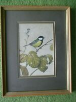Simon Turvey (b.1957) - Signed 20th Century Gouache/Watercolour - Great Tit