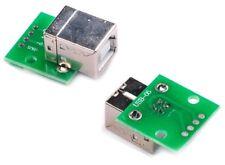 2 X Usb Tipo B Hembra Conector Adaptador de paso breakout junta 2.54 mm DIP