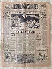 Don Basilio n.2 - 8 gennaio 1950 settimanale satirico d'opposizione