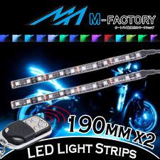 Body Frame RGB Light Strips Flexible Disco Lighting 190mm 2pcs Fit Honda Motors