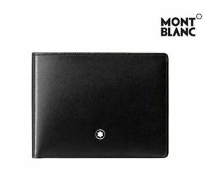 [MONT BLANC] 14548 Men's Meisterstück Leather Wallet 6cc Black ⭐Tracking⭐