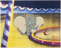 L@@K! Walt Disney's Dumbo & Timothy Mouse Mint LE 11x14 Animation Serigraph Cel