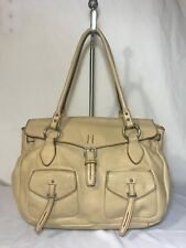 Vera Pelle Firenze Beige Taupe Leather Hobo Shoulder Satchel Purse Bag Italy