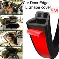 5M Moulding Hood Auto Car Door Edge L Shape Rubber Weatherstrip Seal Strip Trim