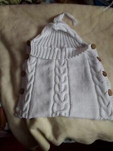 Hand Knitted Newborn Baby Sleeping Bag With Hood