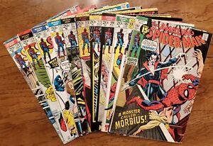 AMAZING SPIDER-MAN LOT OF 11 BOOKS #101-130 1ST MORBIUS, SHA-SHAN, HAMMERHEAD!