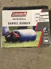 """Coleman Paintball Air Inflatable Barrel Bunker, New in Enclosed Bag, 36"""" x 72"""""""