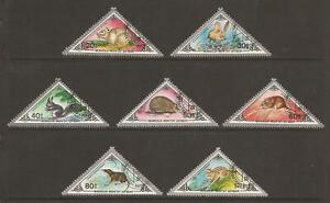 MONGOLIA 1983 SG1563/1569 Small Mammals Set - Fine Used (JB13177)