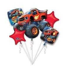 5 Piece Blaze and the Monster Machine Foil Mylar Balloon Bouquet Party Decoratin
