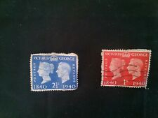 Great Britain - Postage Stamps - 1940 - Queen Victoria and King George VI