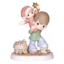 New PRECIOUS MOMENTS Figurine CHRISTMAS TREE DECOR Popcorn Brother Father STAR