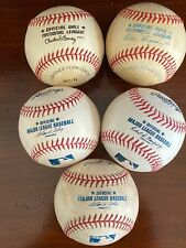 Lot of 5 MLB Major League Baseballs Back to Charlie Feeney