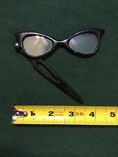 Vintage and Old Lady Glasses 4.5� Black Rim With Pocket Swivel Costume?