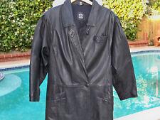 Men's Genuine Black Leather Jacket Coat 10