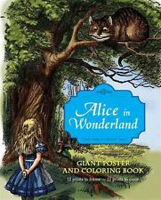 Alice in Wonderland Giant Poster & Coloring Book by Lewis Carroll - NEW