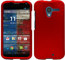 RED RUBBERIZED HARD SKIN CASE PROTECTOR COVER FOR MOTOROLA MOTO X 1st Gen