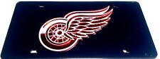 Detroit Red Wings Black Laser License Plate Frame New Car Man Cave Must