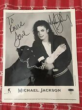 Michael Jackson Signed Autographed And Personalized Publicity Photo 1991