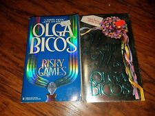 Lot of 2 Olga Bicos paperbacks, Risky Games, Wrapped in Wishes