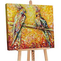 100% Handgemalt Acryl Gemälde handgemaltes Wand Bild Kunst Leinwand Papagei
