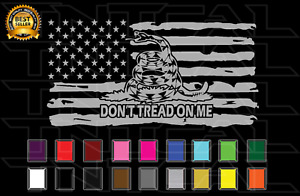 Don't Tread on Me American Flag Decal USA Military - Car Truck Window Wall Decor