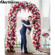 White Metal Wedding Arch Pergola Garden Backdrop Stand Flower Frame Floral Arch