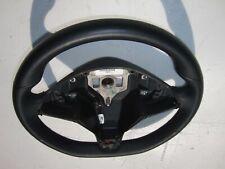 Tesla Model S X OEM Nice Black Leather Heated Steering Wheel Flat Bottom