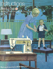 Singer Touch & Sew Special Zig Zag Machine Model 648 Instruction Manual 1969